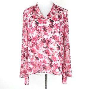 NEW ✨ Calvin Klein Pink Bell Sleeve Floral